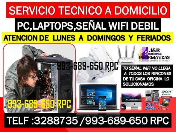 Servicio tecnico a pc,internet wifi,laptops,a domicilio