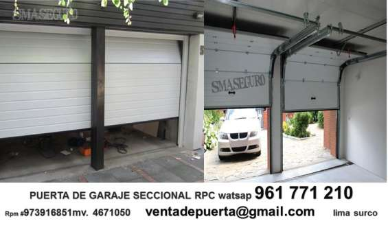 Puerta seccional para garaje moderna