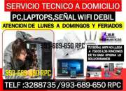 Servicio tecnico a Pc,internet wifi,laptops,cableados,a domicilio