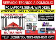Tecnico de internet wifi,Pc,laptops,a cableados,a domicilio
