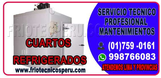 Servicio tecnico a equipos de camaras de congelacion y cuarto refrigerados