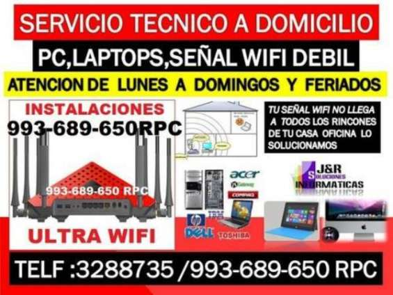 Soporte tecnico a internet wifi,pc,laptops,a domicilio