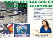 SEPARADORES DE COLAS CON CINTA RETRACTIL