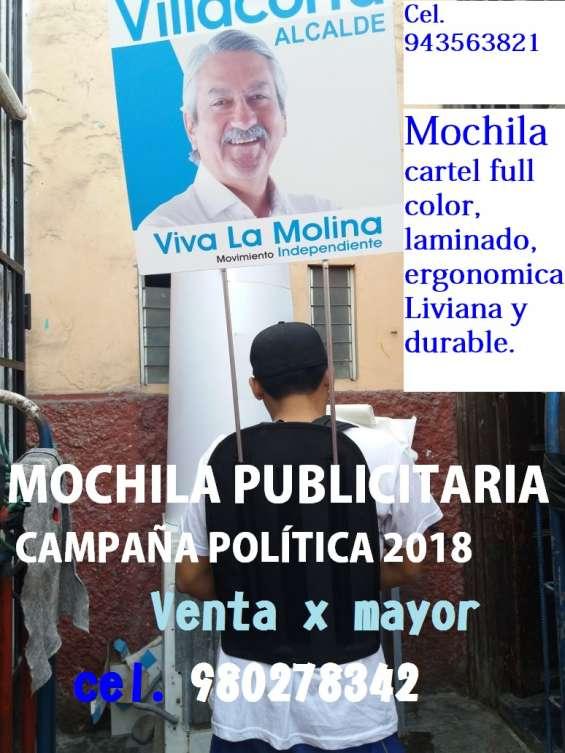 Mochila publicitaria cartell full color mochila banner