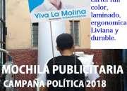 MOCHILAS PUBLICITARIAS CON LETREROS, MOCHILAS CARTEL