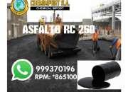 Venta de Asfalto RC-250, Asfalto liquido MC-30, en galón y cilindro