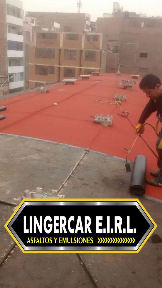 Instalacion y venta de manto asfaltico gravillado gris y rojo