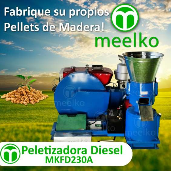 Peletizadora mkfd230a diesel meelko