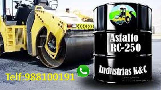Asfalto rc-250 en cilindros de 55 glns puesto en obra cotize 945624066