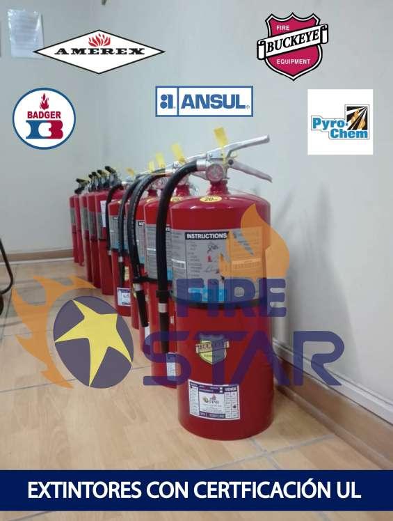 Extintores americanos con certificacion ul