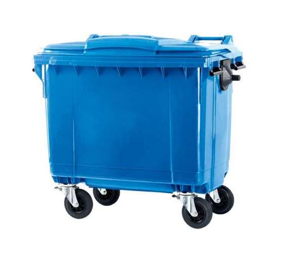 Contenedor de 1100 litros ecológico con ruedas