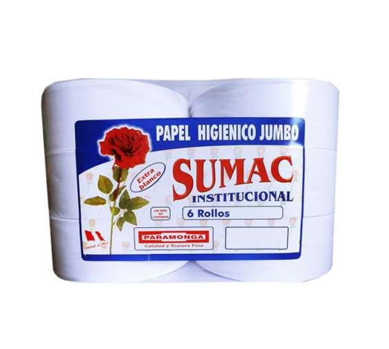 Papel higiénico jumbo extra blanco sumac