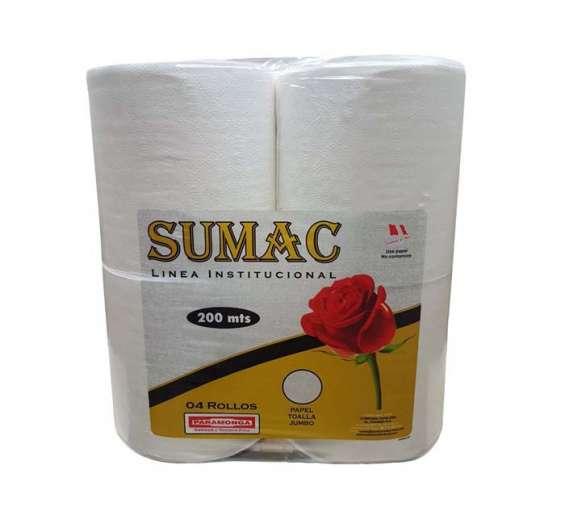 Papel toalla jumbo blanco importado 200 metros sumac