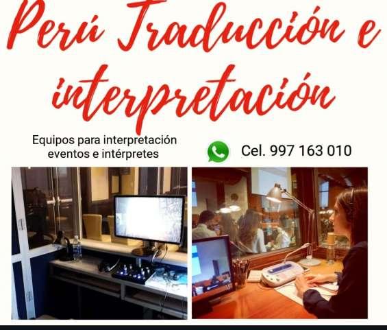 Servicio de cabinas para traducción simultánea en cusco, piura, lima cel. 997163010